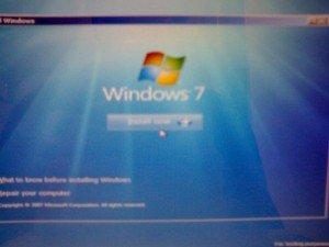 installa windows seven