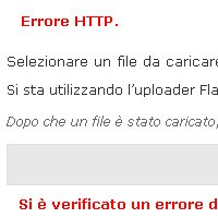 WordPress 2.7 upload immagini errore http