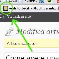 Personalizzare la favicon (iconcina) per il pannello di amministrazione di wordpress
